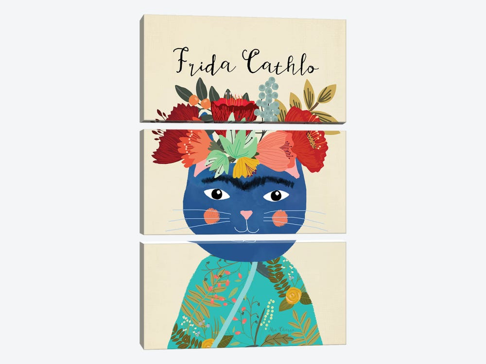 Frida Cathlo by Mia Charro 3-piece Canvas Wall Art
