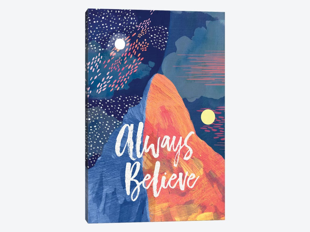 Always Believe by Mia Charro 1-piece Canvas Wall Art
