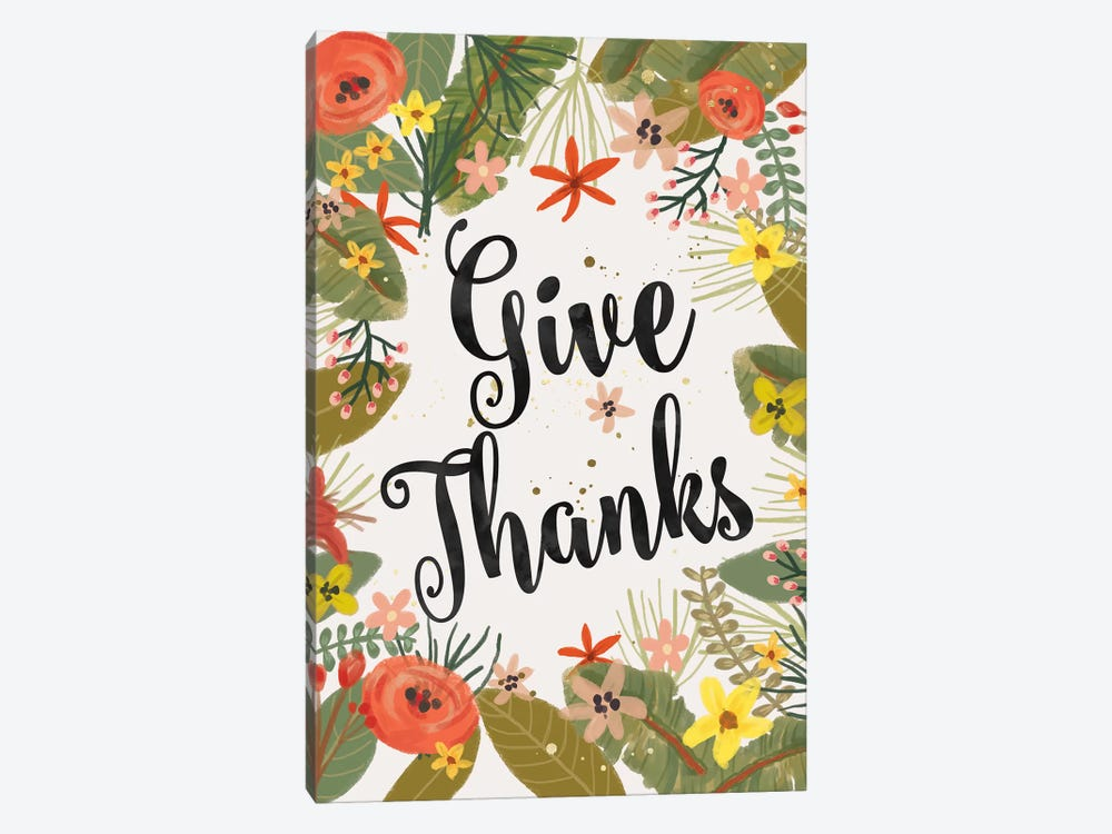 Give Thanks by Mia Charro 1-piece Canvas Art