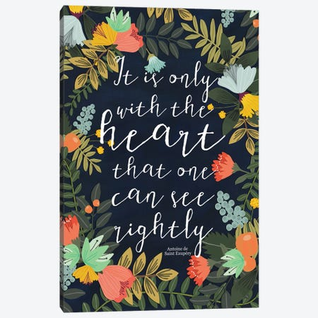 It Is Only With The Heart Canvas Print #MIO25} by Mia Charro Canvas Art