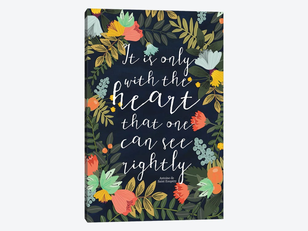 It Is Only With The Heart by Mia Charro 1-piece Art Print