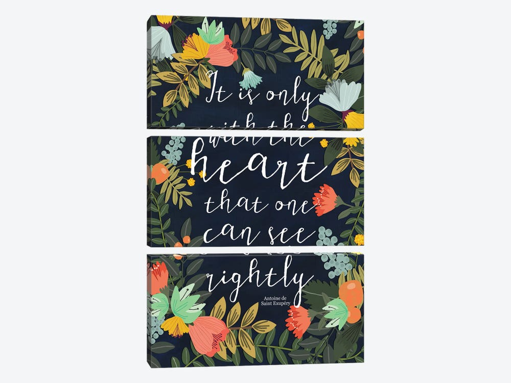 It Is Only With The Heart by Mia Charro 3-piece Art Print