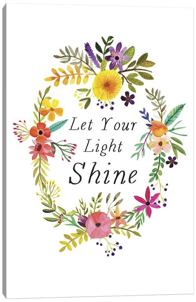 Let Your Light Shine Canvas Art Print