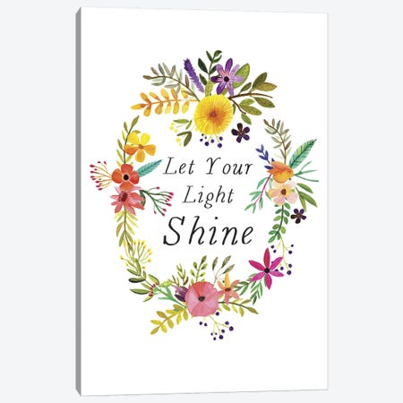 Let Your Light Shine Canvas Print #MIO26} by Mia Charro Canvas Art