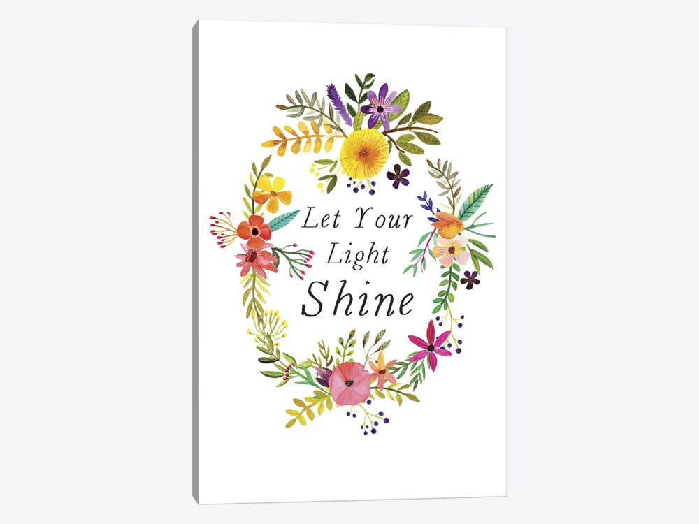 Let Your Light Shine by Mia Charro 1-piece Canvas Wall Art