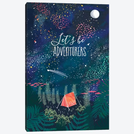 Let´s Be Adventurers I Canvas Print #MIO27} by Mia Charro Canvas Wall Art