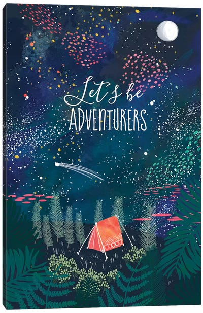 Let´s Be Adventurers I Canvas Art Print