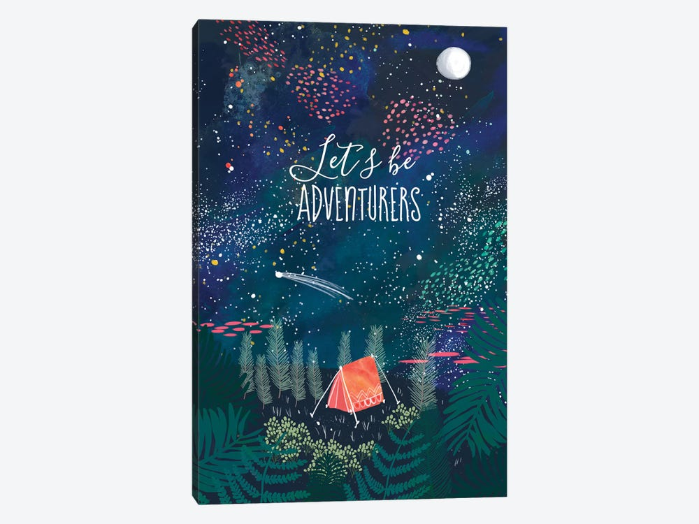 Let´s Be Adventurers I by Mia Charro 1-piece Canvas Print