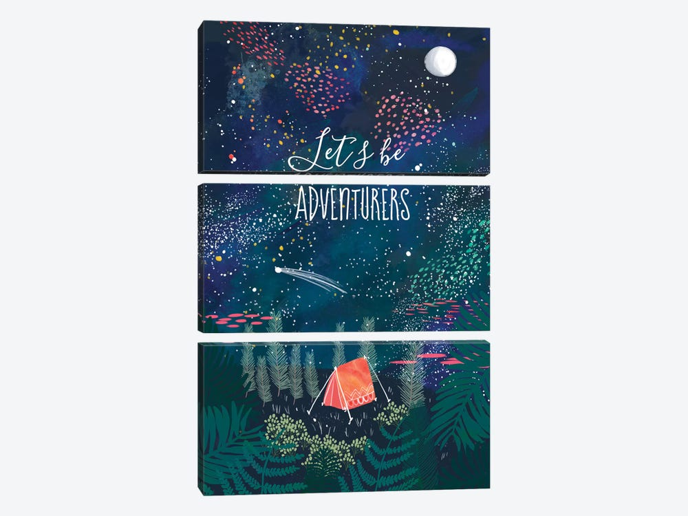 Let´s Be Adventurers I by Mia Charro 3-piece Canvas Print