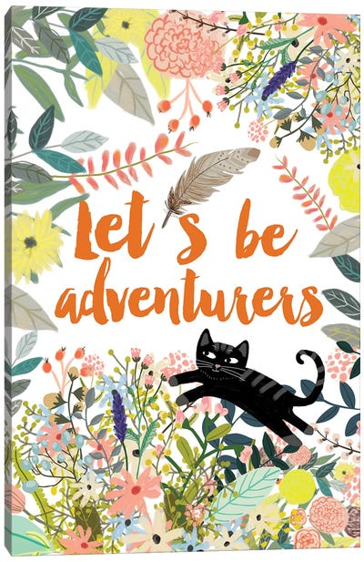 Let´s Be Adventurers II Canvas Art Print