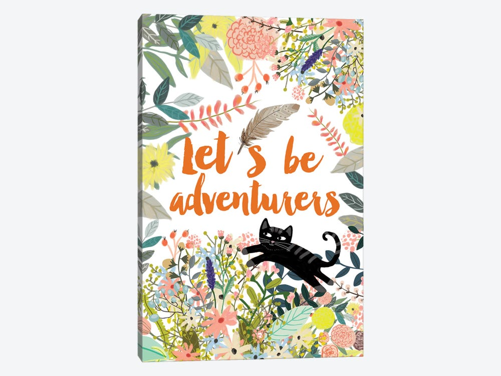 Let´s Be Adventurers II by Mia Charro 1-piece Canvas Art