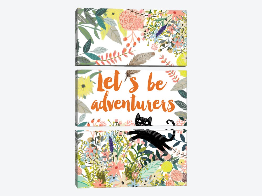 Let´s Be Adventurers II by Mia Charro 3-piece Canvas Art