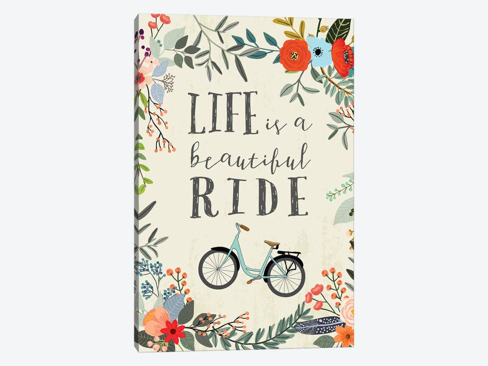 Life Is A Beautiful Ride by Mia Charro 1-piece Art Print