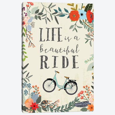 Life Is A Beautiful Ride Canvas Print #MIO29} by Mia Charro Art Print