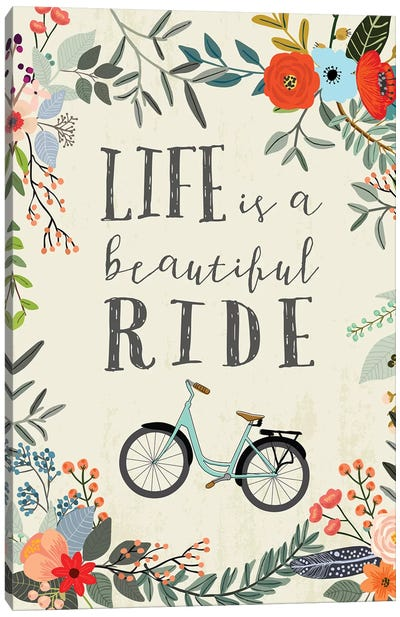Life Is A Beautiful Ride Canvas Art Print