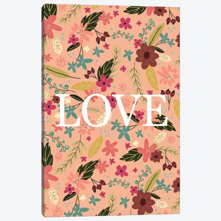 Love I Canvas Print #MIO31} by Mia Charro Canvas Wall Art