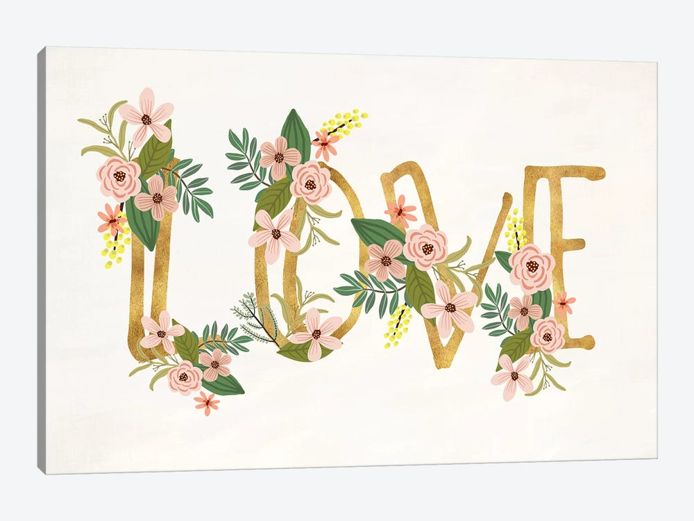 Love III by Mia Charro 1-piece Canvas Art