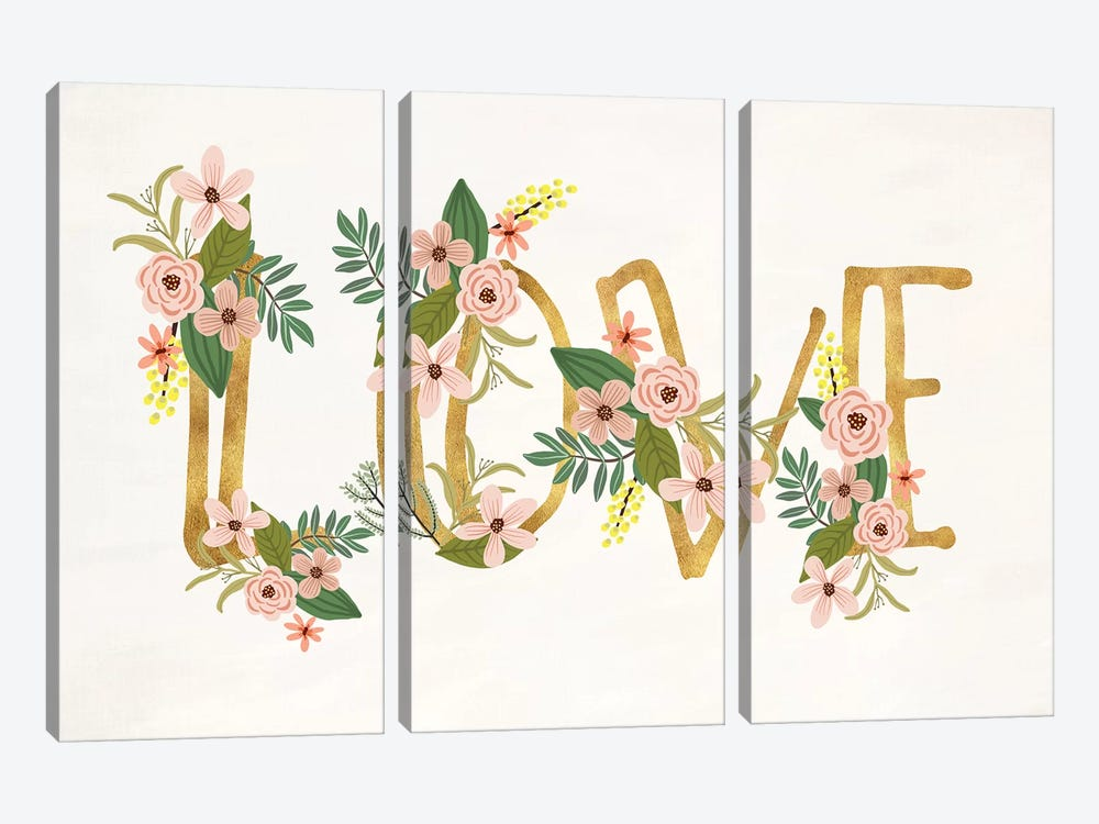 Love III by Mia Charro 3-piece Canvas Artwork