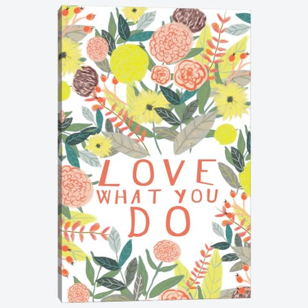 Love What You Do 3-Piece Canvas #MIO34} by Mia Charro Canvas Print