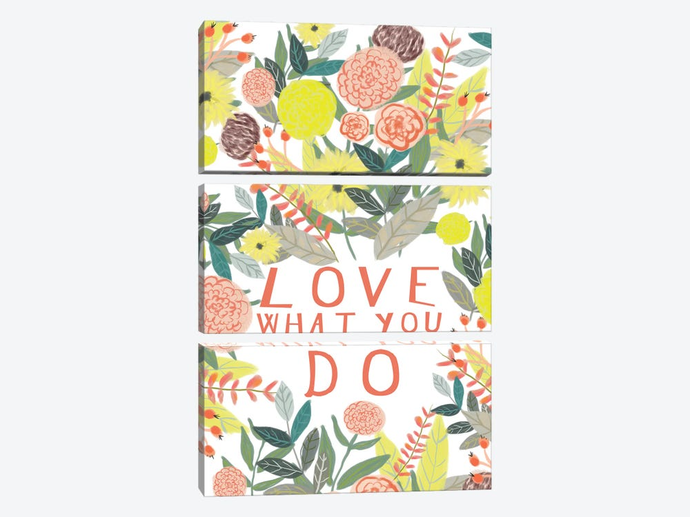 Love What You Do by Mia Charro 3-piece Canvas Art Print