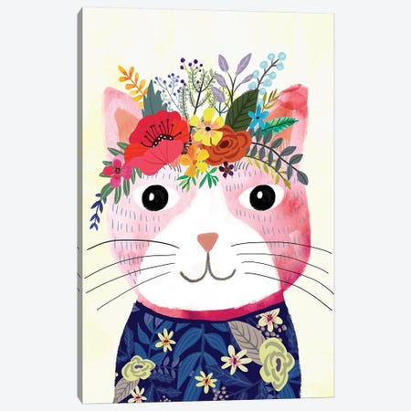 Mafi The Cat Canvas Print #MIO35} by Mia Charro Art Print
