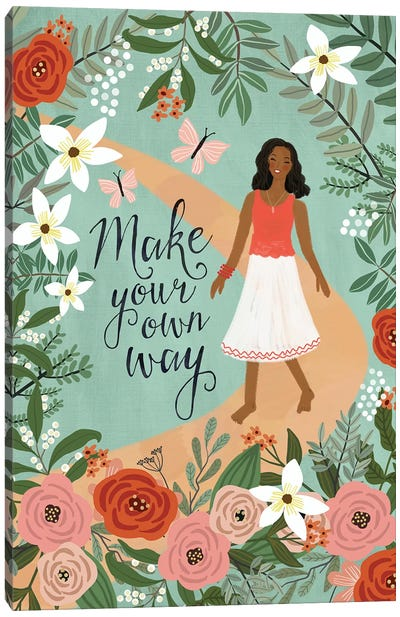 Make Your Own Way Canvas Art Print