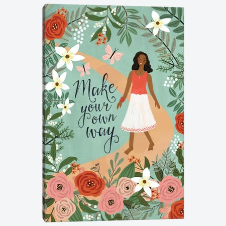 Make Your Own Way Canvas Print #MIO36} by Mia Charro Canvas Print