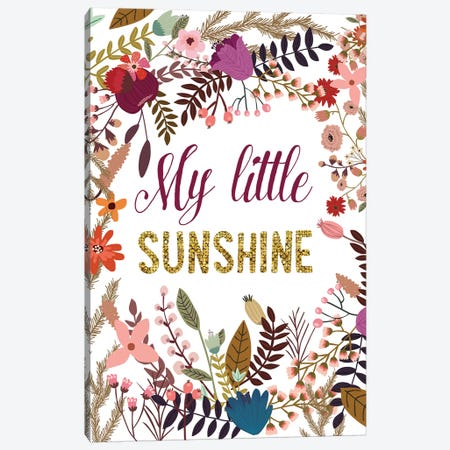My Little Sunshine Canvas Print #MIO38} by Mia Charro Canvas Art