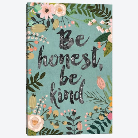 Be Honest, Be Kind Canvas Print #MIO3} by Mia Charro Canvas Artwork