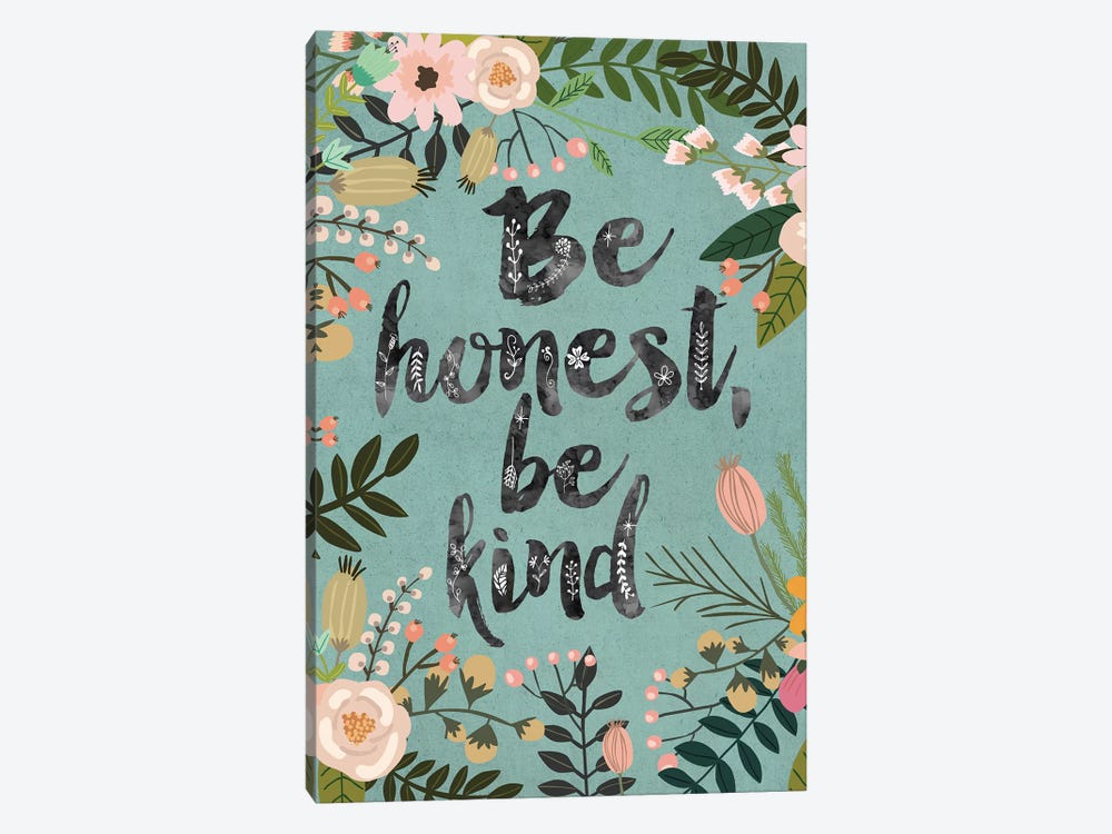 Be Honest, Be Kind by Mia Charro 1-piece Canvas Wall Art