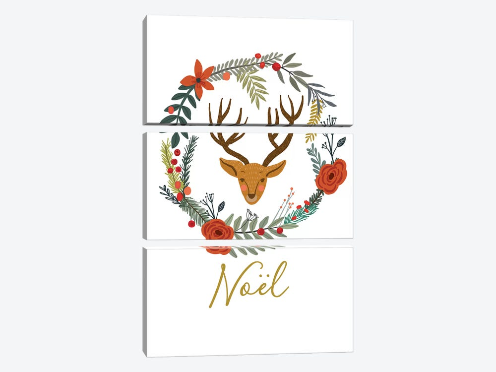Noel by Mia Charro 3-piece Canvas Art