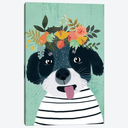 Puppy 3-Piece Canvas #MIO42} by Mia Charro Canvas Print
