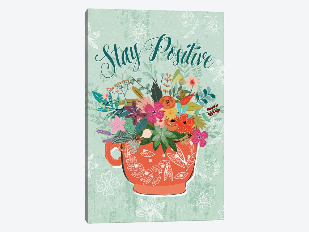 Stay Positive by Mia Charro 1-piece Canvas Art
