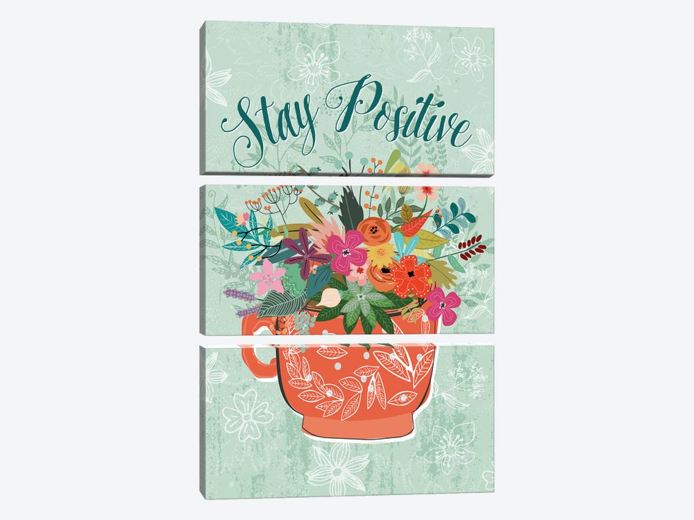 Stay Positive by Mia Charro 3-piece Canvas Wall Art