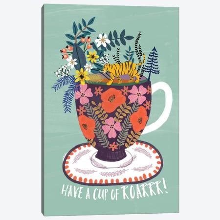 Tea Canvas Print #MIO45} by Mia Charro Canvas Wall Art
