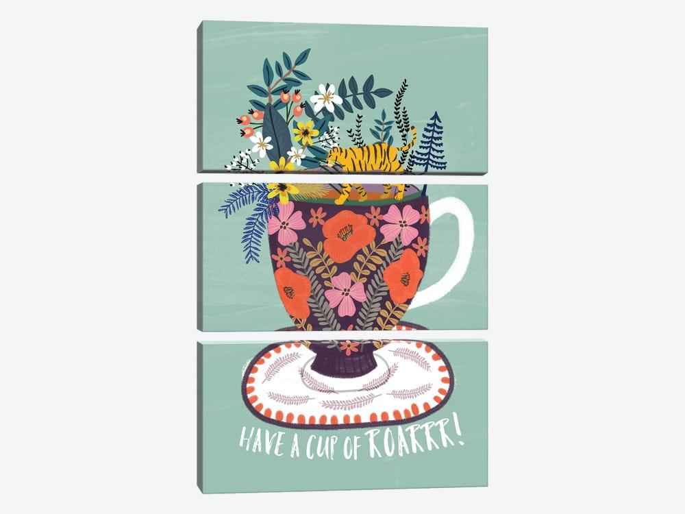 Tea by Mia Charro 3-piece Canvas Print