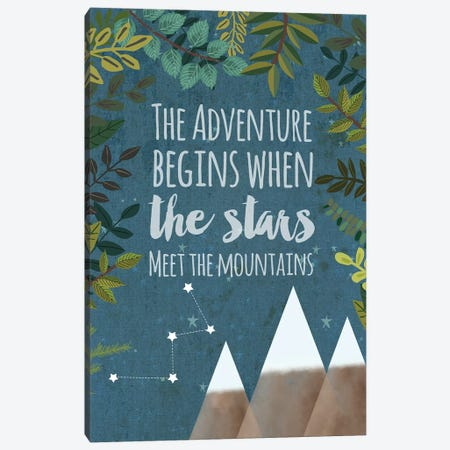 The Adventure Begins Canvas Print #MIO46} by Mia Charro Canvas Wall Art