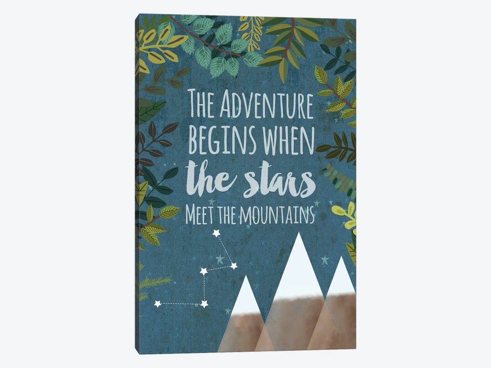 The Adventure Begins by Mia Charro 1-piece Canvas Wall Art