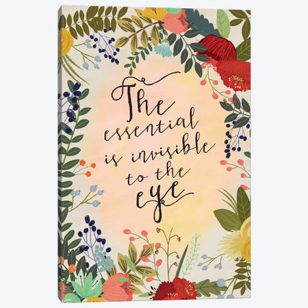 The Essential Is… Canvas Print #MIO47} by Mia Charro Canvas Artwork
