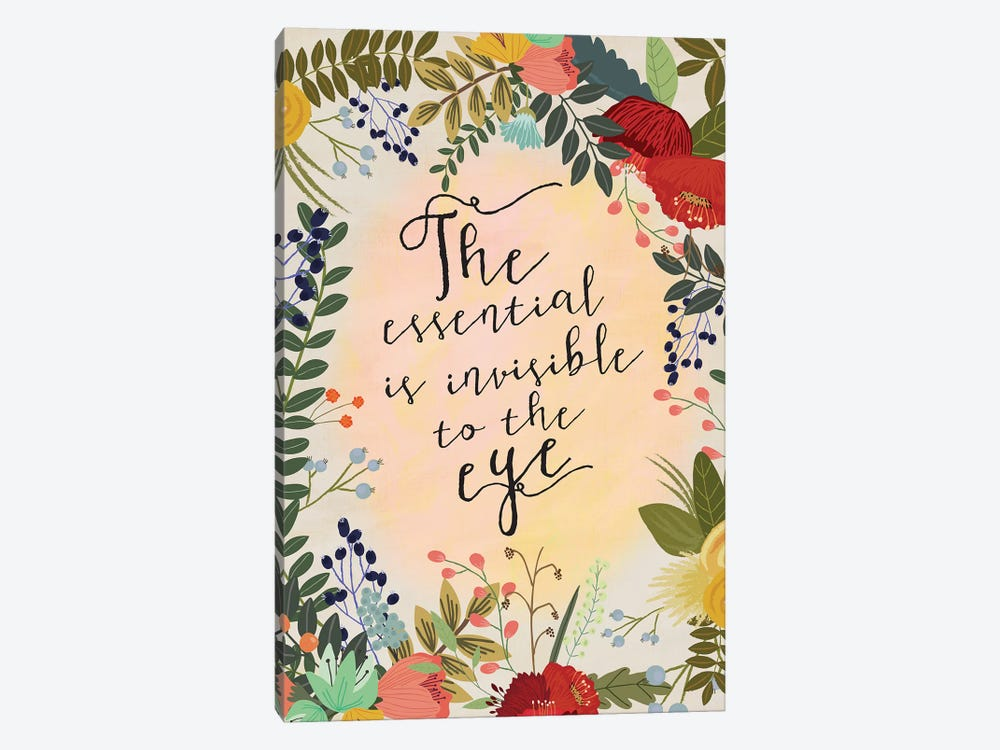 The Essential Is… by Mia Charro 1-piece Canvas Art Print