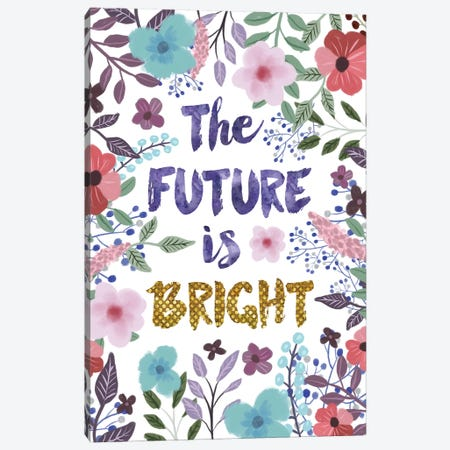 The Future Is Bright Canvas Print #MIO48} by Mia Charro Canvas Art Print