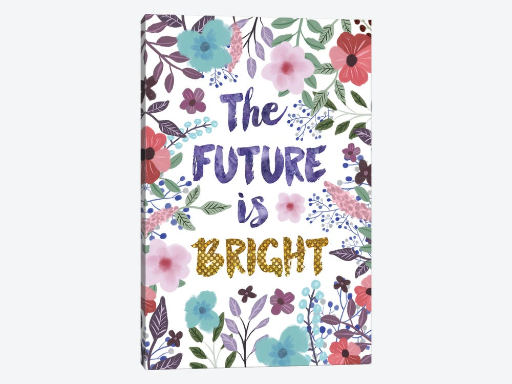The Future Is Bright 1-piece Canvas Art