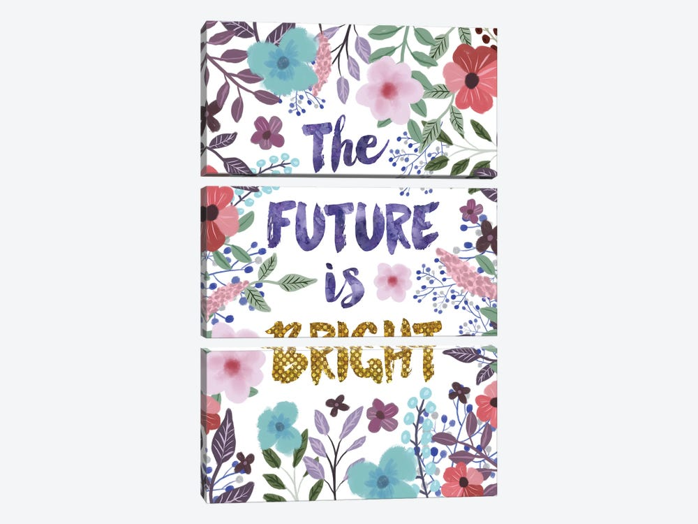 The Future Is Bright by Mia Charro 3-piece Canvas Wall Art