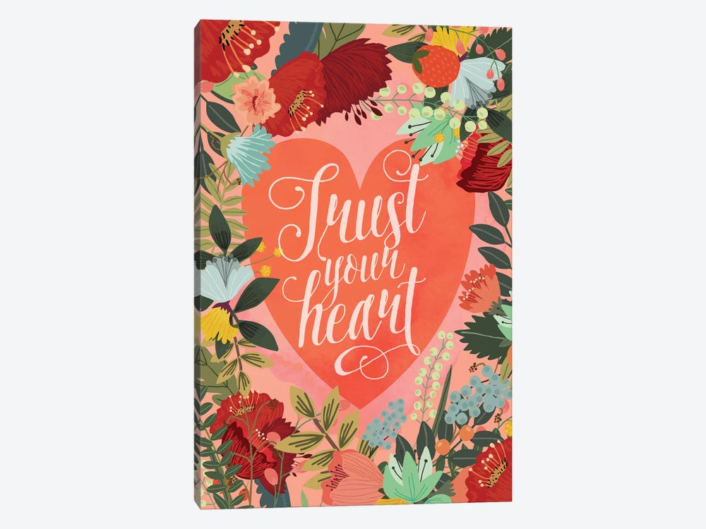 Trust Your Heart by Mia Charro 1-piece Canvas Art Print