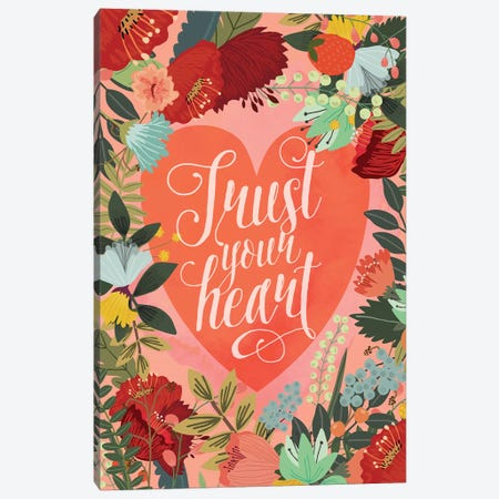Trust Your Heart Canvas Print #MIO50} by Mia Charro Canvas Art