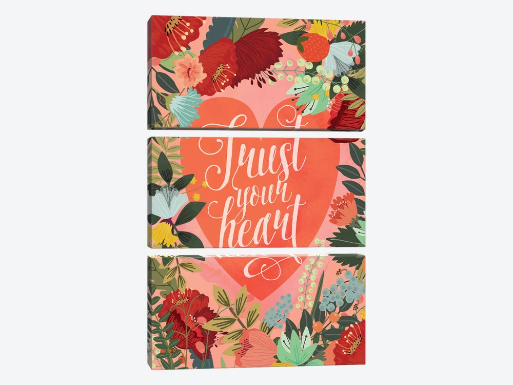 Trust Your Heart by Mia Charro 3-piece Canvas Print