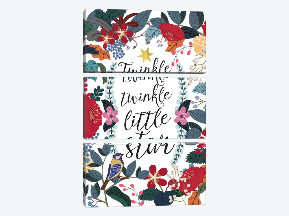 Twinkle Twinkle by Mia Charro 3-piece Canvas Art