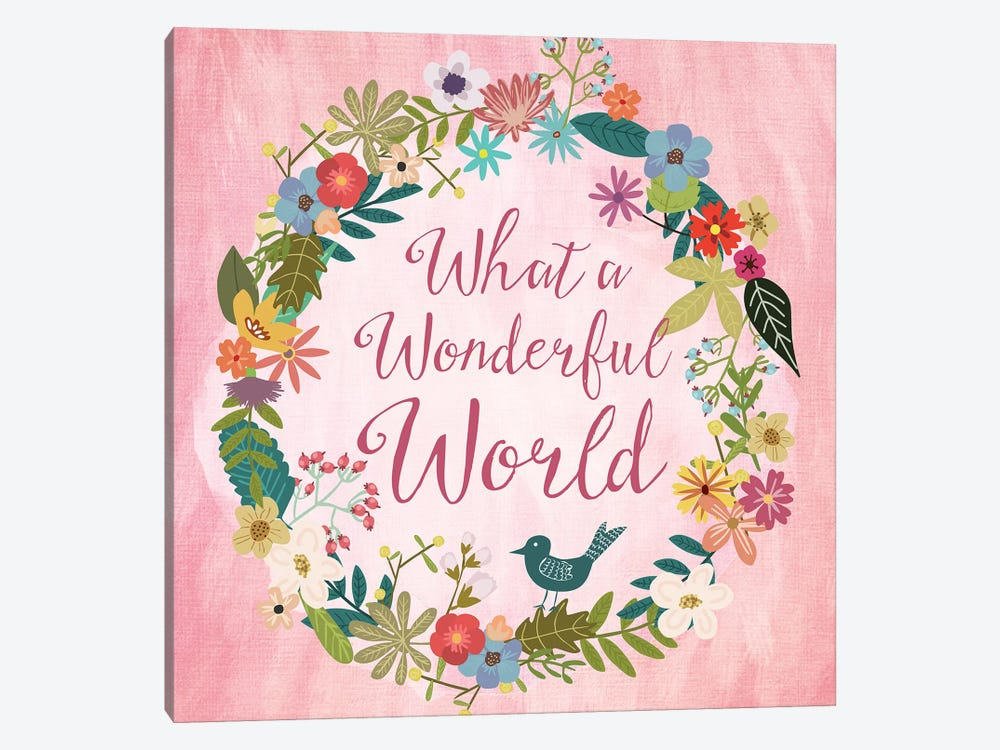 What A Wonderful World 1-piece Canvas Wall Art