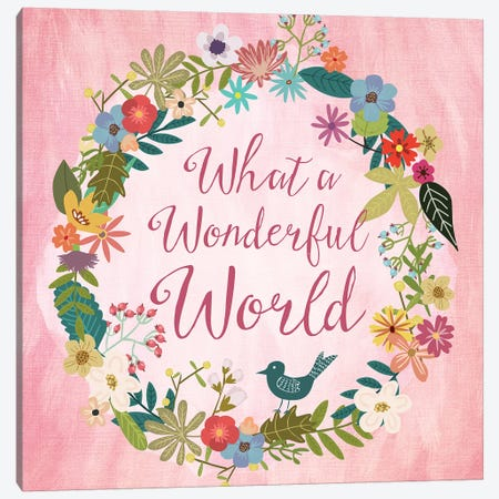 What A Wonderful World Canvas Print #MIO53} by Mia Charro Canvas Artwork