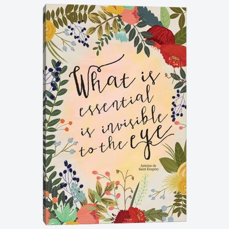 What Is Essential… Canvas Print #MIO54} by Mia Charro Canvas Print